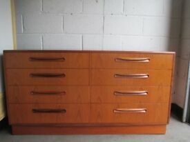 VINTAGE GPLAN G PLAN TEAK RETRO EIGHT DRAWER CHEST OF DRAWERS FREE DELIVERY