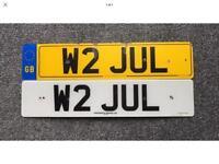 Personalised Number plate - Julie, Jules, Julian, Julia