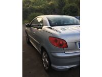 Peugeot 206 convertible. Very low mileage