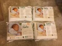 4 x size 1 Naty new unopened packs of nappies