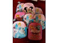 Job lot of 8 Brand new childrens backpacks