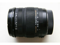 Sigma DC 17-70mm 1:2.8-4 Macro HSM lens, Canon mount
