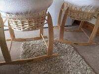 2x Clair de lune moses baskets and stands