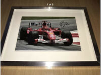 Hand Signed Michael Schumacher Photo: A4 Incredible!!