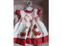 Baby girl strawberry dress