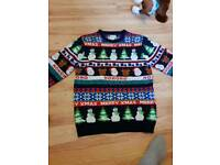 3 christmas jumpers 1 new