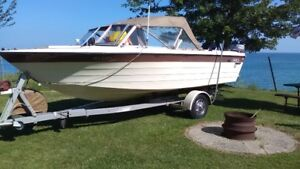 FISHING BOAT, TRAILER AND ACCESSORIES