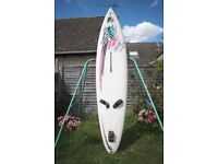 F2 Fun and Function - Windsurfer board and fin