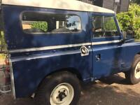 Land Rover Series 3 SWB. 2286 petrol engine. Galvanised Chassis. 1 year's MOT.