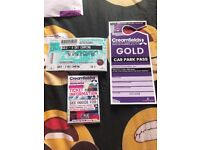 4 days gold camping creamfeilds ticket with a 4 day gold car park pass.