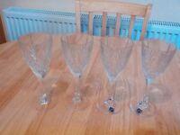 Heavy champagne glasses