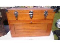 Original American Gerstner solid wood tool chest box