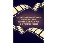ACTORS REQUIRED *VOLUNTARY WORK*