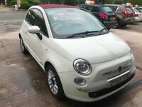 2010 FIAT 500C 1.2 LOUNGE SOFT TOP.ONLY 31000 MILES WITH FULL SERVICE HISTORY