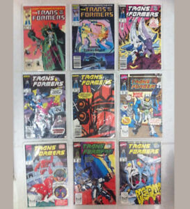Transformers G1 Vintage Marvel Comics Lot 1984-1990