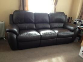 Leather recliners 2&3 seaters sofas setees