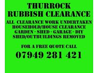 Thurrock Rubbish Clearance - all clearence work undertaken - same day service - call today