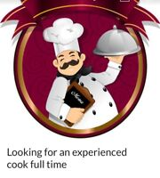 We need a cook with experience