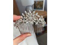 Ever faith Austrian Crystal hair comb
