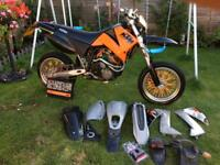 Ktm 640 lc4 supermoto Road legal full year mot cheap laner crf yzf