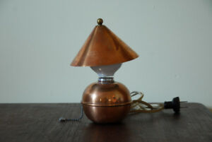 Lampe Chase 1930. Copper/brass