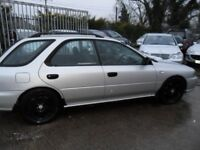 subaru impreza 2.0 estate silver turbo bonnet and seats
