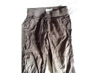 Boys Brown M&S trousers Age 3-4