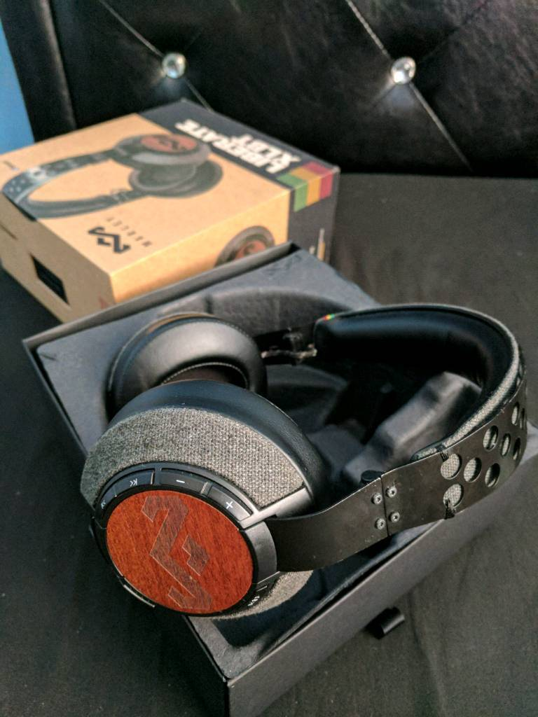 house of marley liberate xl bluetooth headphones | in reddish