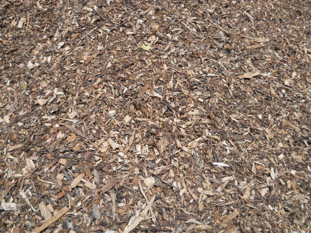 Stop weeds in flower beds -  Flower Beds Stops Weeds Similar To Bark Mulch Woodchip Image 1 Of 4