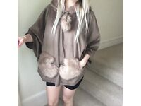 Cute and Cozy Furry Bear Poncho