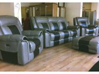 ScS Baxter - Two Tone , 3+1+1, FULLY ELECTRIC RECLINING , ENDURANCE SOFA SUITE + FREE LOCAL DELIVERY