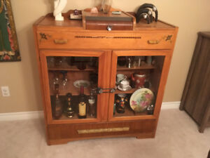 Antique Hutch and Display Cabinet - Rustic Chic