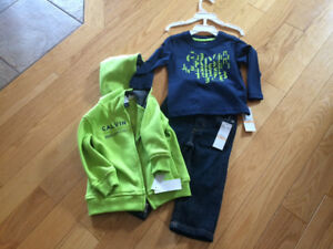 Toddler boy hoodie, shirt and jeans