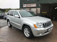 Jeep Grand Cherokee 3.0 CRD V6 Overland fully loaded 2008 58 plate only 84500 miles