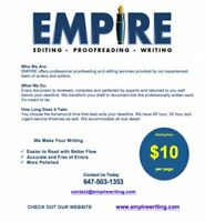 Empire Writing - Editing & Proofreading Service - From $10