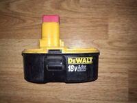 Dewalt Battery DE9503 18v 2.6 Ah, £25 no offers