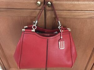Coach Bag - Large Red Saffiano Leather