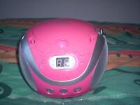 Portable AM/FM Stereo CD Player - good condition full working order. Model no. CXCD241-P