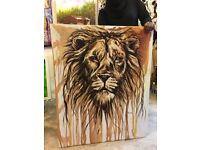 Lion Painting Purchased From Famous Zanzibarian Artist