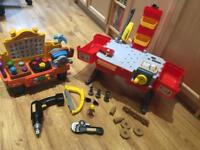 Handy Mandy tool box and Bob the builder work bench