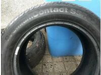 Pair of Continental run-flat tyres 205x55 R16