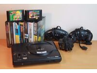 Retro Sega Mega Drive Bundle Console with 2 Controllers & 9 Games