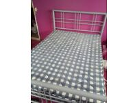 Silver frame double bed only