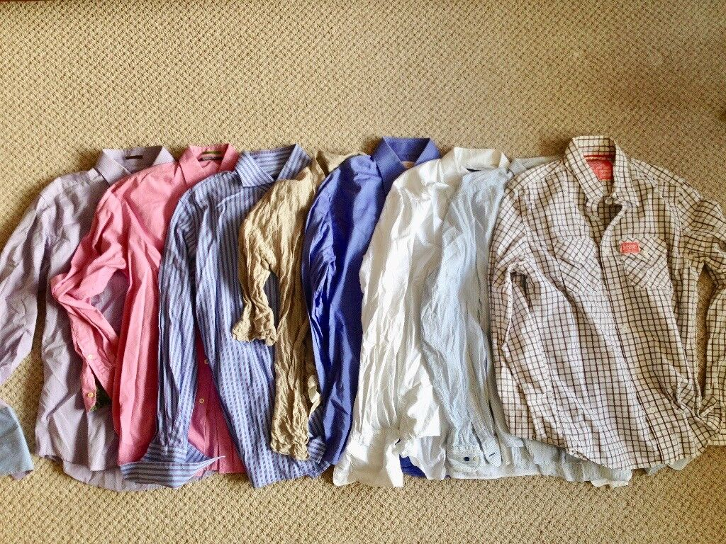 """8 MEN'S SHIRTS to fit 42"""" chest"""