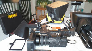 Caméra vidéo professionnelle et équipements