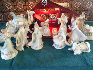Bradford Silver Nativity complete set