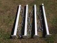 4 Boundary/Drive Metal posts