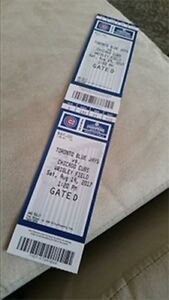 Toronto Blue Jays vs Chicago Cubs Sat Aug 19th (Road Trip!!!)