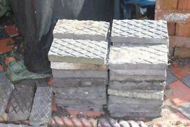 victorian blue diamond paving blocks