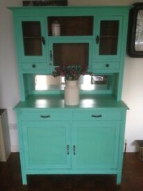 Vintage Old Pine painted Pantry/Dresser